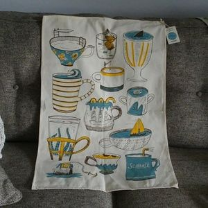 'Storm in Teacup' Whimsical Tea Towel/Wall Hanging